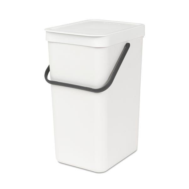Brabantia Sort n Go 16 Litre Waste Bin White