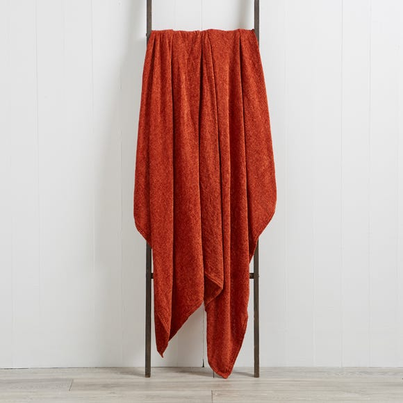 Chenille Terracotta Throw  undefined