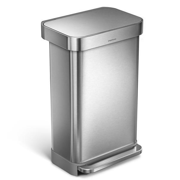 simplehuman Fingerprint Proof Brushed Steel Liner Pocket Bin Silver undefined