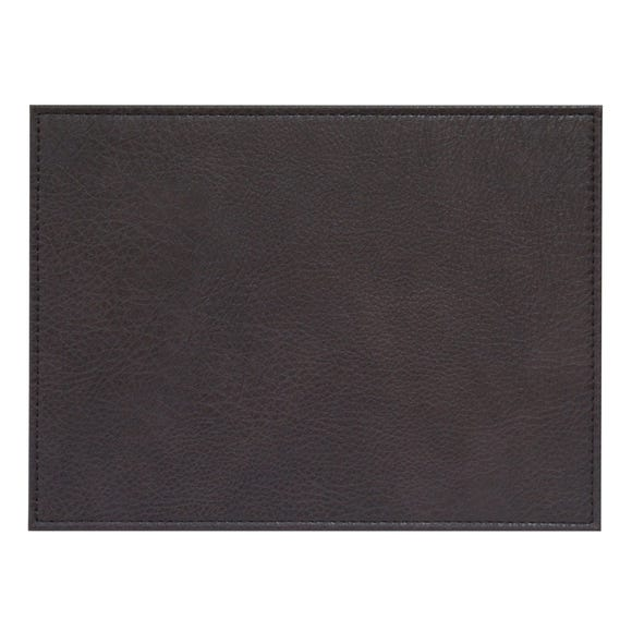 Set of 4 Faux Vintage Leather Placemats Brown