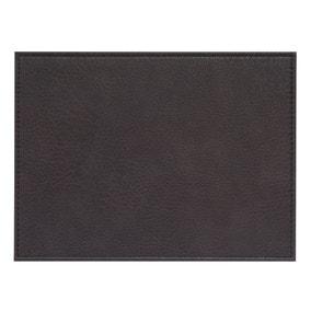 Set of 4 Faux Vintage Leather Placemats