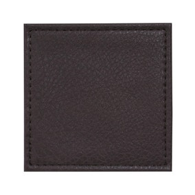 Set of 4 Faux Vintage Leather Coasters