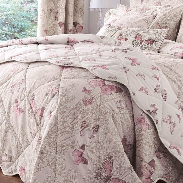 Botanica Butterfly Blush Bedspread Blush (Pink) undefined