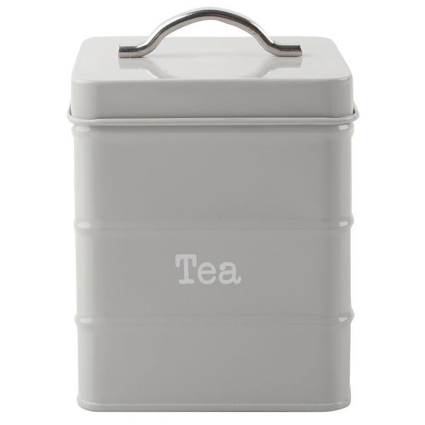 Housekeeper Grey Tea Canister Grey