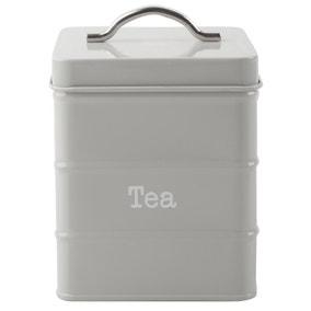 Housekeeper Grey Tea Canister