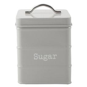 Housekeeper Grey Sugar Canister
