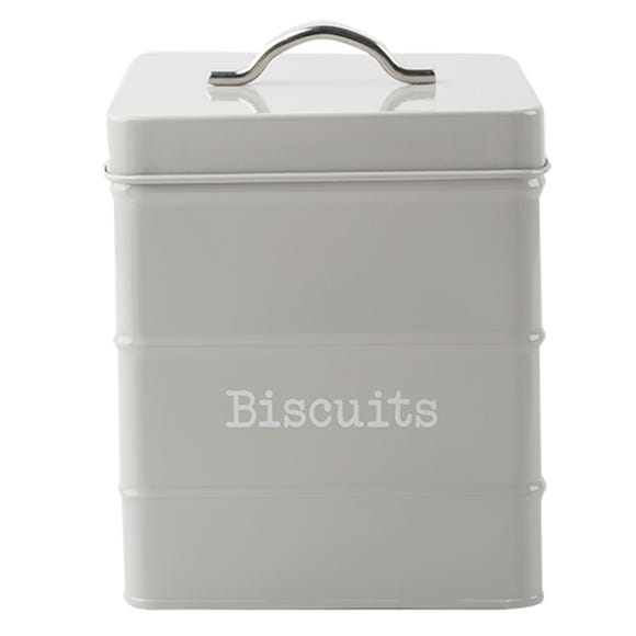 Housekeeper Grey Biscuit Canister Grey