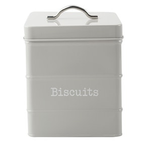 Housekeeper Grey Biscuit Canister