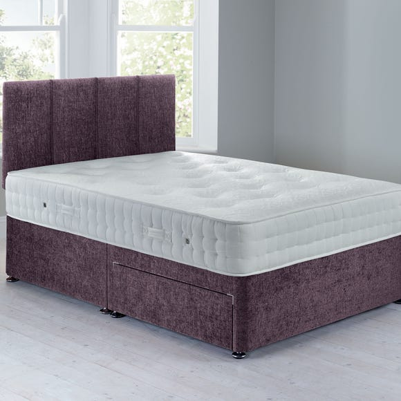 Sarasota Sprung Edge Divan Set- 2 Drawer Crushed Velvet Amethyst undefined