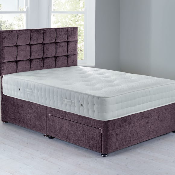 Cuba Platform Top Divan Set - 2 Drawer Crushed Velvet Amethyst undefined