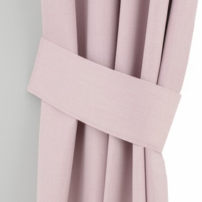 Solar Pink Curtain Tiebacks