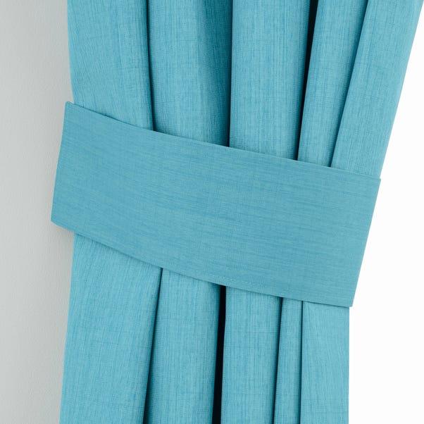 Solar Teal Curtain Tiebacks Teal (Blue)