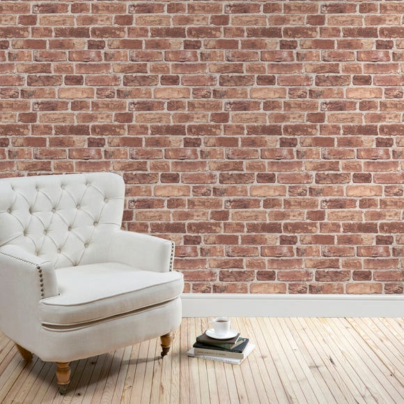 Original Brick Wallpaper Brown