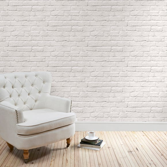 White Brick Wallpaper White