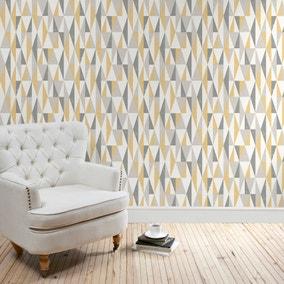 Triangle Ochre Wallpaper
