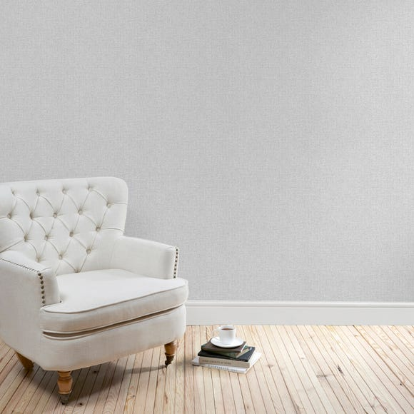 Grey Cara Textured Wallpaper Grey