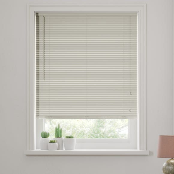 Dove Grey Wooden Venetian Blind 27mm Slats Grey undefined