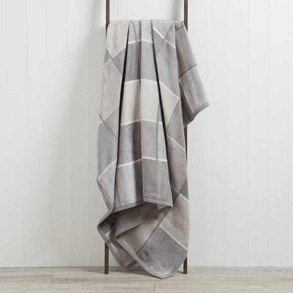 Thermosoft Checked 220cm x 240cm Blanket Thermosoft Check Grey undefined