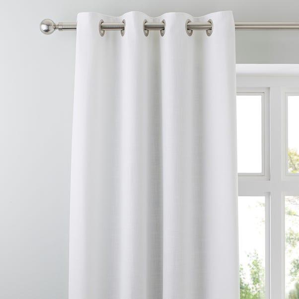 Vermont White Eyelet Curtains White undefined