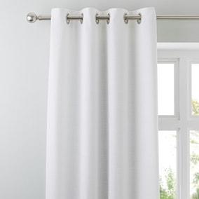 Vermont White Eyelet Curtains
