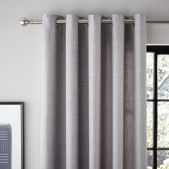 Vermont Dove Grey Eyelet Curtains Grey undefined