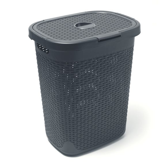 Addis 50L Charcoal Laundry Hamper