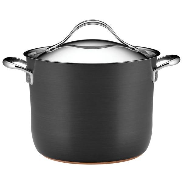 Anolon Nouvelle Copper 7.6 Litre Stockpot Grey