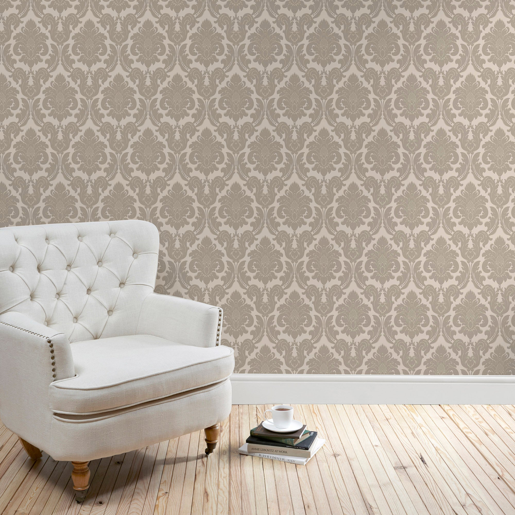 Click to view product details and reviews for Natural Versailles Wallpaper Natural Brown.