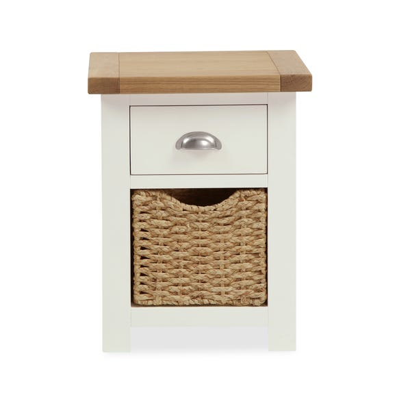Wilby Cream 2 Drawer Bedside Table Cream (Natural)
