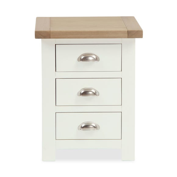 Wilby Cream 3 Drawer Bedside Table Cream (Natural)