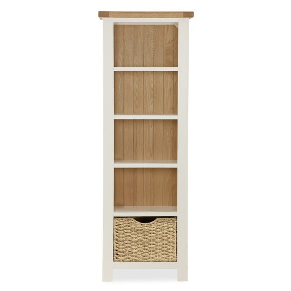 Wilby Cream Slim Bookcase Cream (Natural)