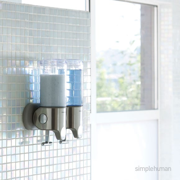 simplehuman Double Shower Soap Pump Steel