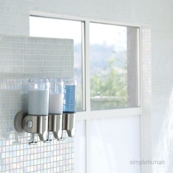 simplehuman Triple Shower Soap Pump Steel