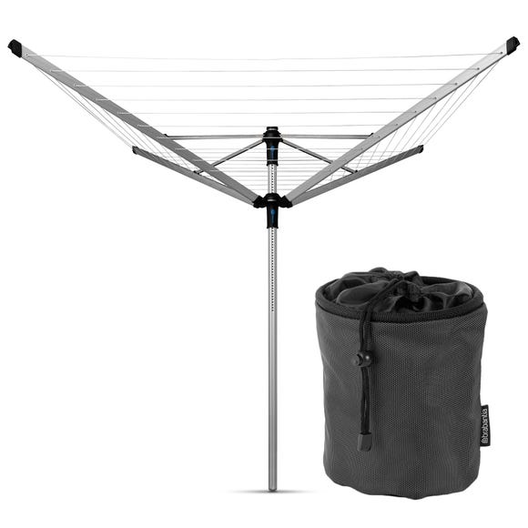 Brabantia 50 Metre 4 Arm Rotary Liftomatic Advance Washing Line Silver