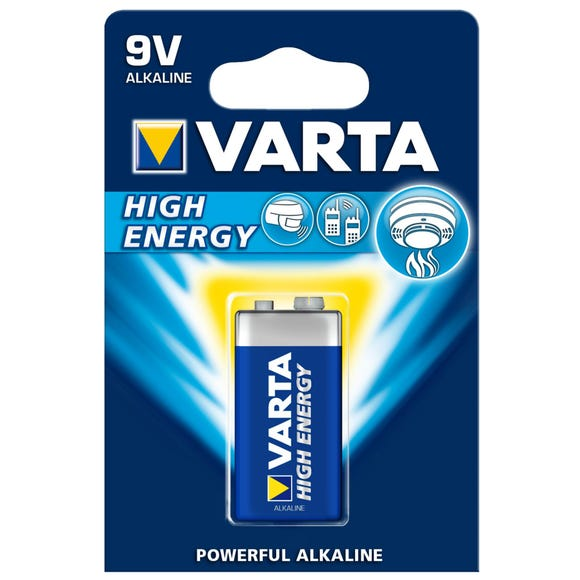 Varta High Energy 9V Battery Blue