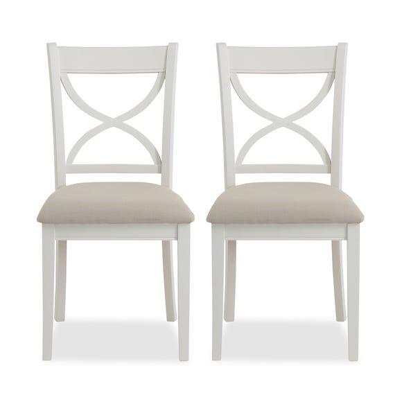 Blakely Cotton Pair of Dining Chairs Grey