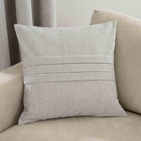Large Chenille Silver Cushion