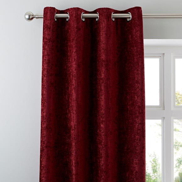 Chenille Wine Eyelet Curtains  undefined