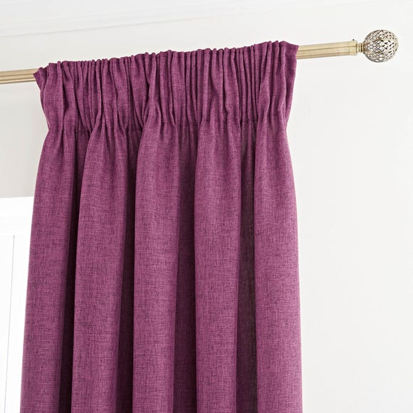 Vermont Berry Pencil Pleat Curtains Berry (Red) undefined