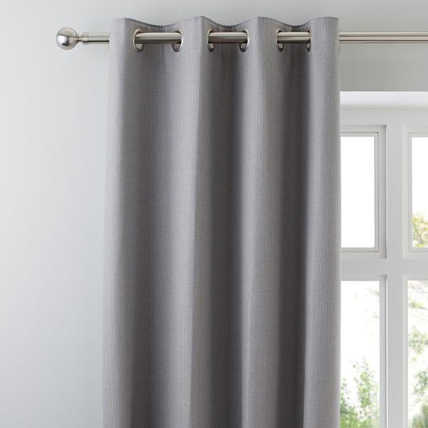 Hayden Grey Eyelet Curtains  undefined