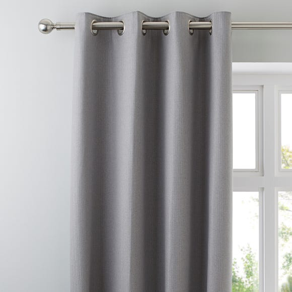 Hayden Grey Eyelet Curtains Grey undefined