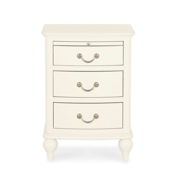 Athena Ivory 3 Drawer Bedside Table Ivory