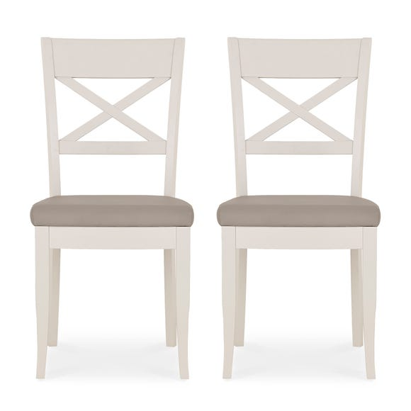 Sophia Set of 2 Dining Chairs Grey PU Leather Grey