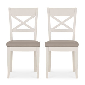 Sophia Set of 2 Dining Chairs Grey PU Leather