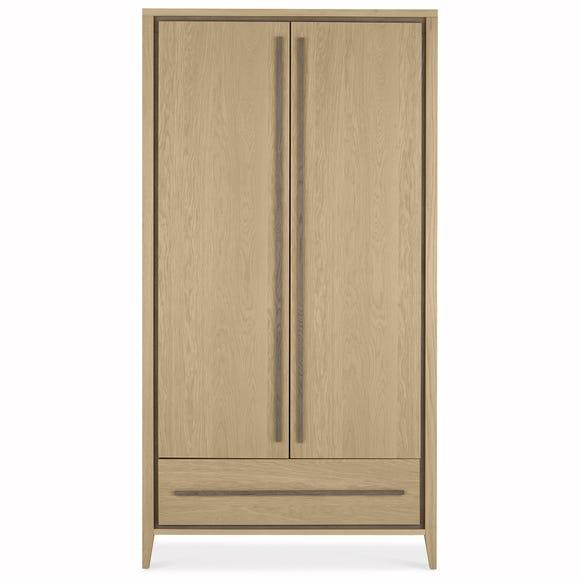 Mason Oak Double Wardrobe Oak (Brown)