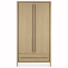 Mason Oak Double Wardrobe