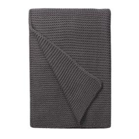 Charcoal Chunky Knit Breckon 130cm x 180cm Throw