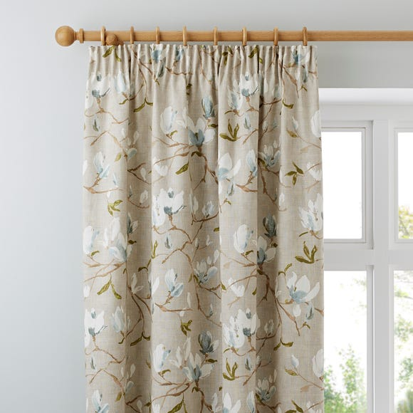 Magnolia Green Pencil Pleat Curtains  undefined