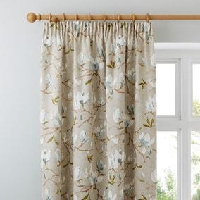 Magnolia Green Pencil Pleat Curtains