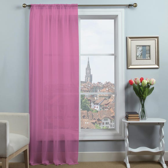 Dynamic Pink Single Slot Top Voile Panel Pink undefined